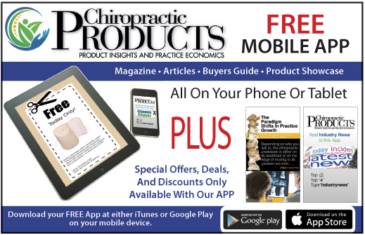 AD for Chiropractic Products App